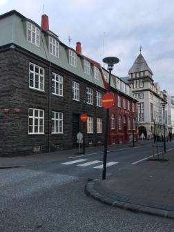 Buildings near Tjornin