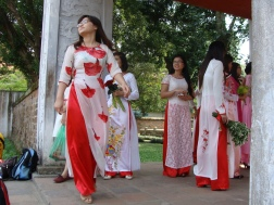 Traditional ao dai dresses