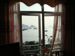 View from our hotel in Cat Ba City