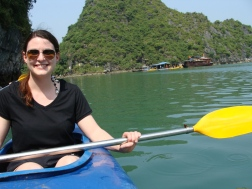 A little kayaking in Halong Bay