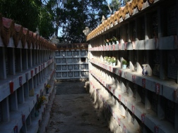 Burial sites at Long Son Pagoda