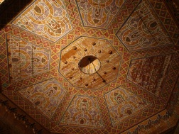 Detailed wooden ceiling
