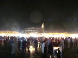Jemaa el-Fnaa square at night