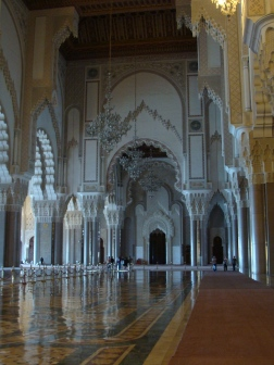 Hassan II Mosque main prayer hall