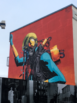 Reykjavik building mural