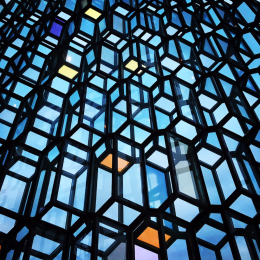 Harpa window panes