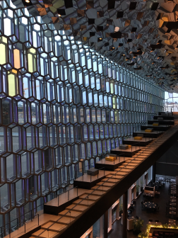 Harpa staircase