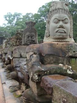 Angkor Wat warrior statues